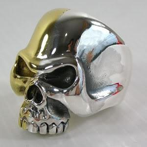 Skull ring two-tone-silverringsmens