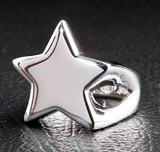 Star Designer Ring-silverringsmens