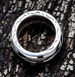 Tribal Tattoo Mens Ring-silverringsmens