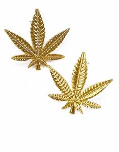POT LEEAF STUD EARRINGS