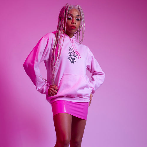 POWER PUFF BABE HOODIE - PINK