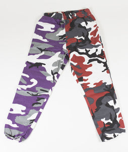 BB CAMO PANTS - PURPLE/RED