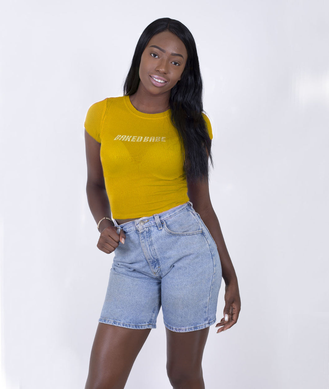 ICY CROP TOP - YELLOW