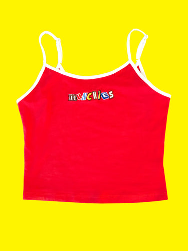 MUNCHIES CROP TOP - RED