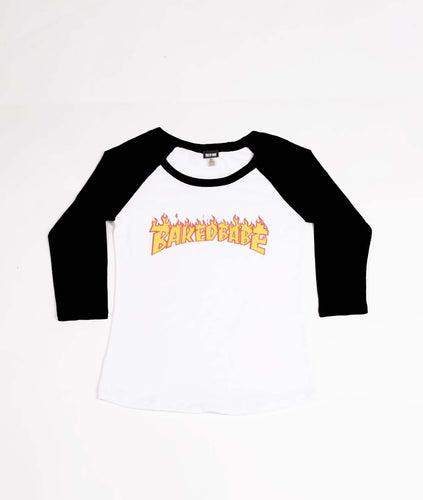 Flame Raglan - Black