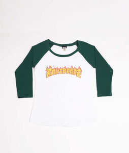 Flame Raglan - Hunter Green