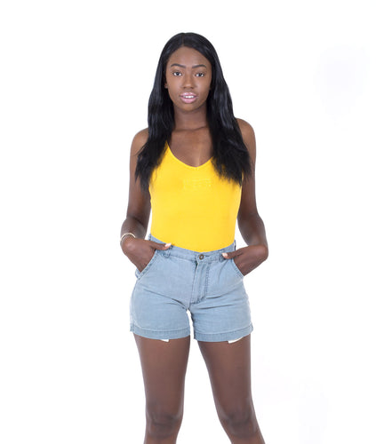 TONAL BODYSUIT - YELLOW