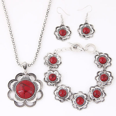 Bohemian water drop pendant earring