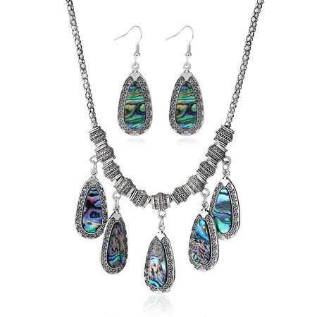 925 Sterling Silver Crystal Pendant long earrings