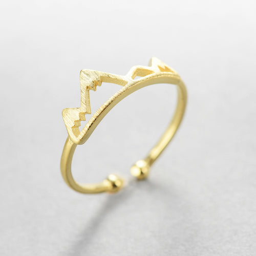 Cute snow peak ring
