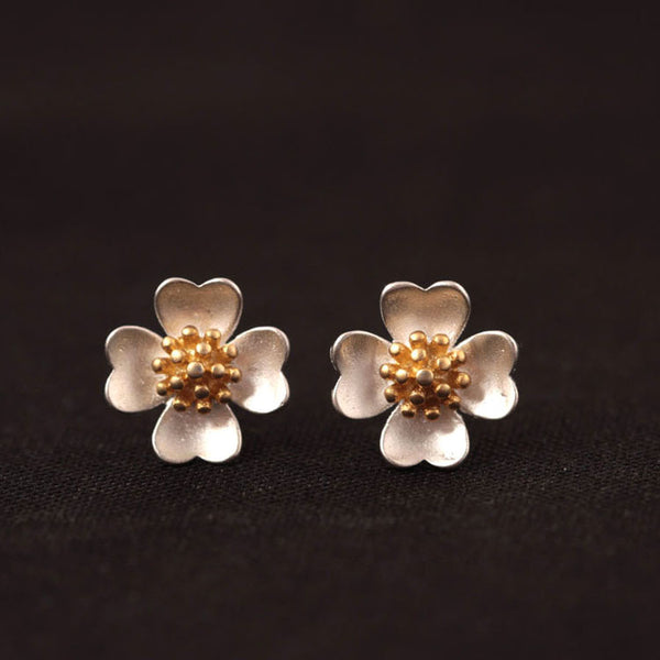 925 Sterling Silver Four seasons flowers earrings
