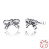 925 Sterling Silver Bowknot Earrings