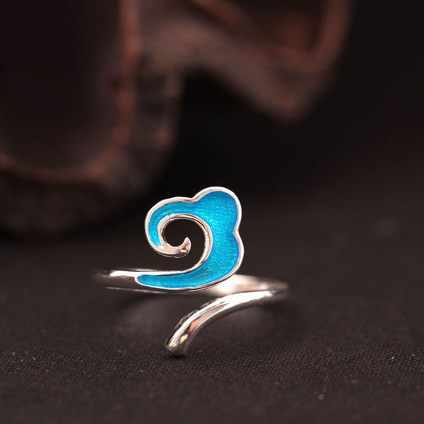 925 sterling silver The clouds rings