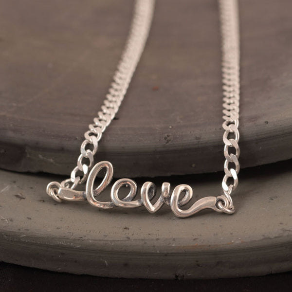 925 Sterling Silver LOVE necklaces