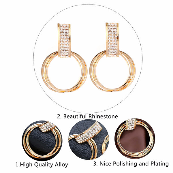 Big circle  Rhinestone earrings