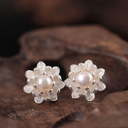 925 sterling silver Apricot flowers rings