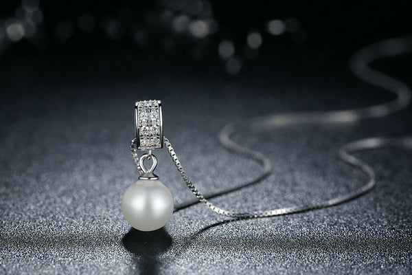 925 Sterling Silver pearl  necklaces