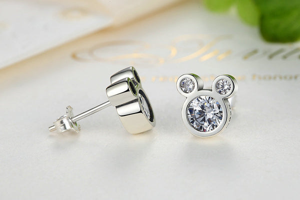 925 Sterling Silver Mickey mouse Earrings
