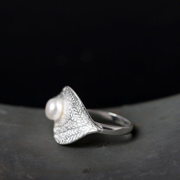 925 sterling silver Natural freshwater pearls  rings