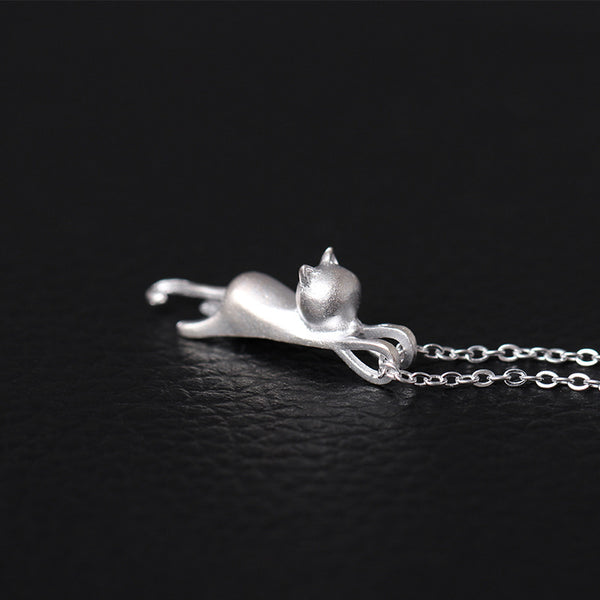 925 Sterling Silver Cats  necklaces