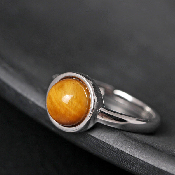 925 sterling silver  Tiger eye stone rings