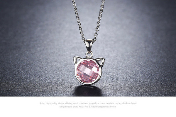 925 Sterling Silver kitten necklaces