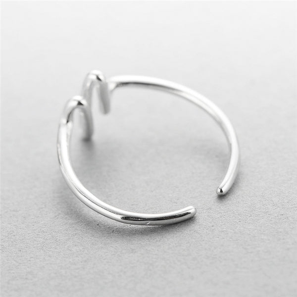 925 sterling silver Electrocardiogram rings