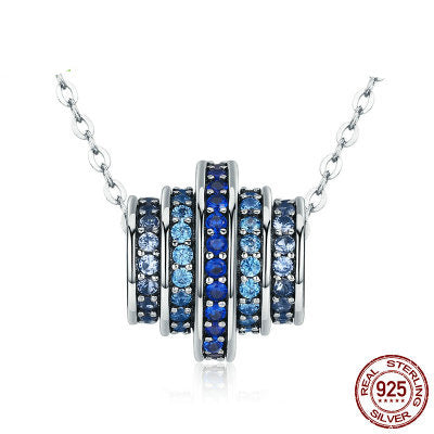 925 Sterling Silver Blue Blue rhythm  necklaces