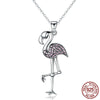925 Sterling Silver Flamingos necklaces