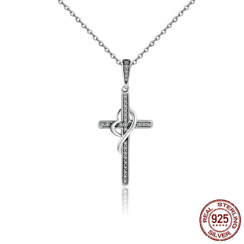 925 Sterling Silver cross necklaces