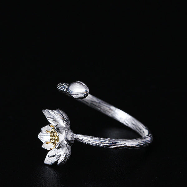 925 sterling silver Lotus  rings