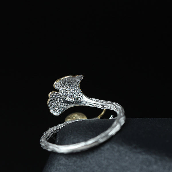 925 sterling silver snails  ring