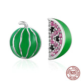 925 Sterling Silver watermelon Earring