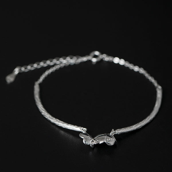 925 Sterling Silver Plum tree branches bracelet