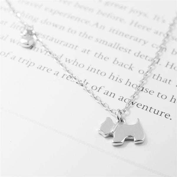 925 Sterling Silver puppy necklace