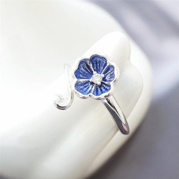 925 sterling silver Small flowers rings