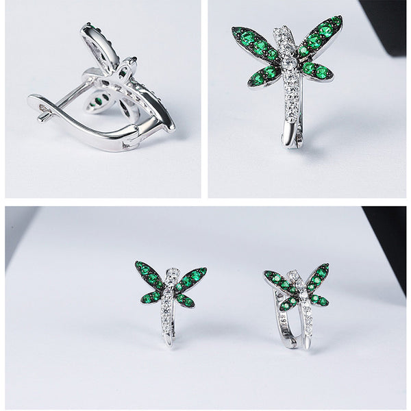 925 Sterling Silver dragonfly Earring