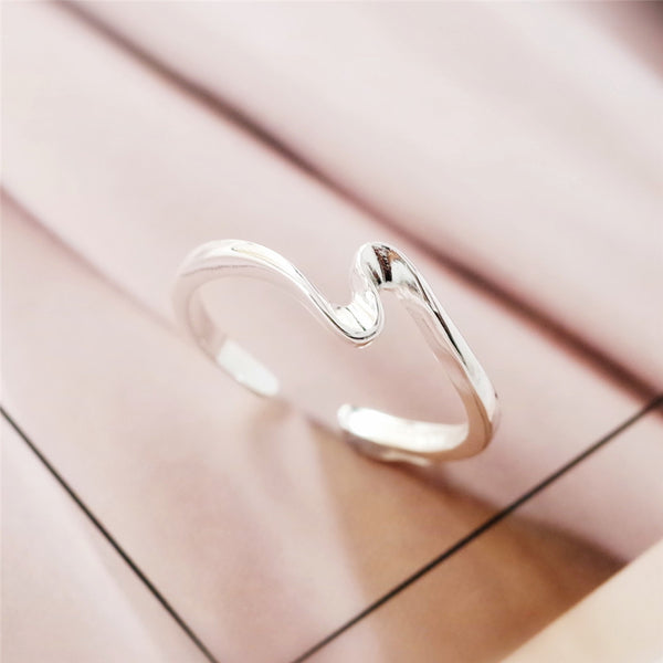 925 sterling silver wave rings