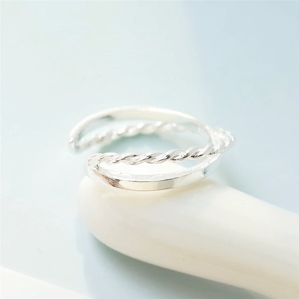 925 sterling silver Twisted rings
