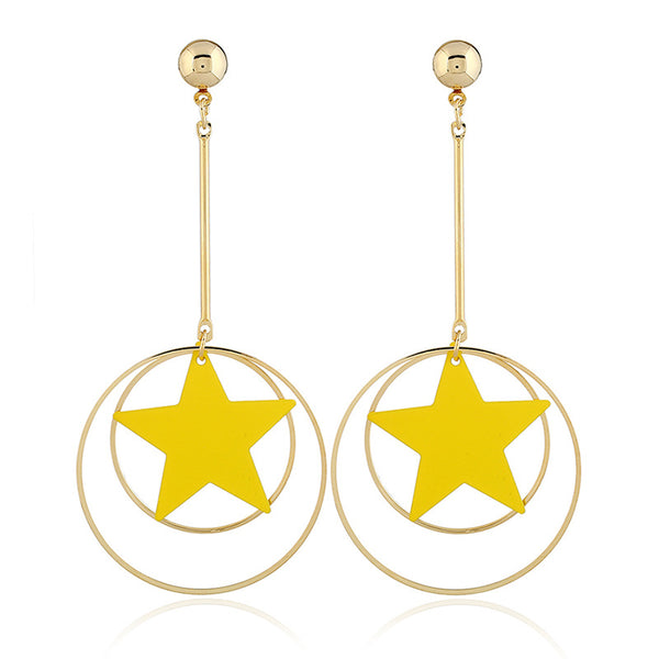Candy Five-pointed star earring