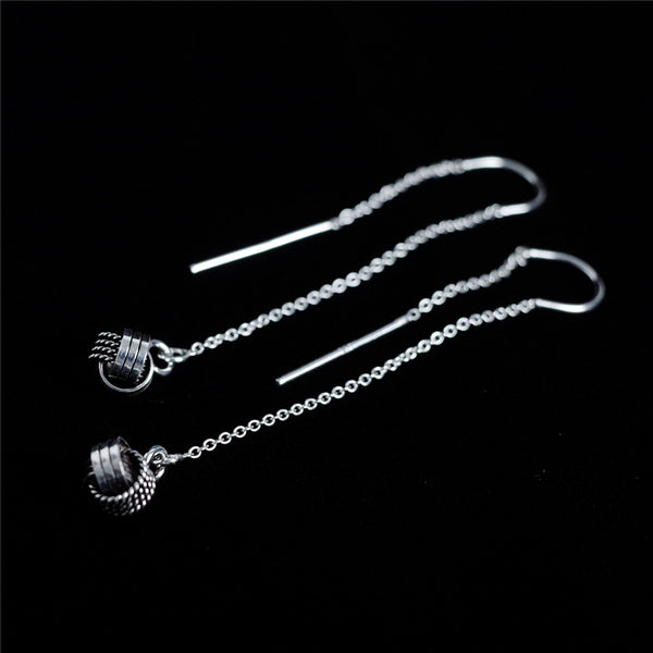 925 Sterling Silver U-shaped winding Ear line