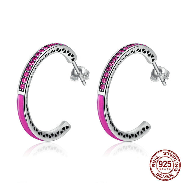 925 Sterling Silver Big circle Earring