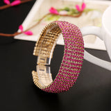 8 rows of Rhinestone bracelet