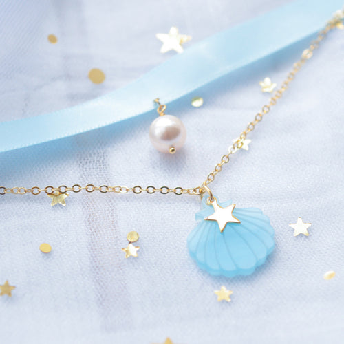 Shell candy neckband necklace