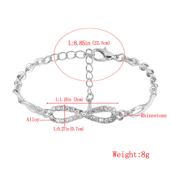8 word diamond bracelet