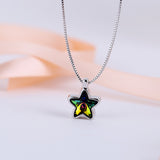 Colored stars clavicle chain