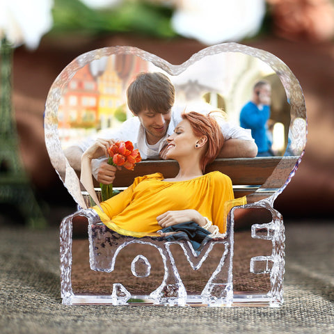 Romantic Heart Shape Crystal Miniature Customized Personalized Glass Crafts