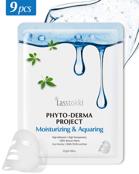 Lasstokki Phyto-Derma Project Moisturizing & Aquaring Mask 9 pcs