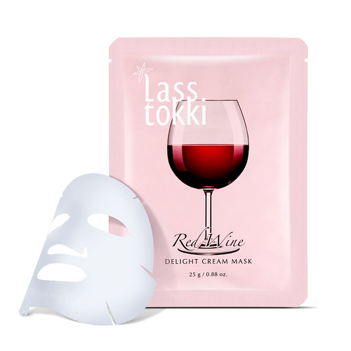 Lasstokki Red Wine Delight Sheet mask - Lasstokki face mask