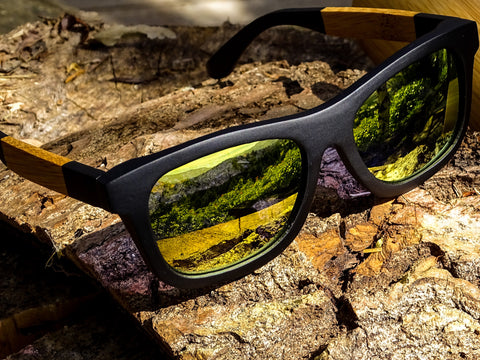 Two Tone Wooden Sunglasses